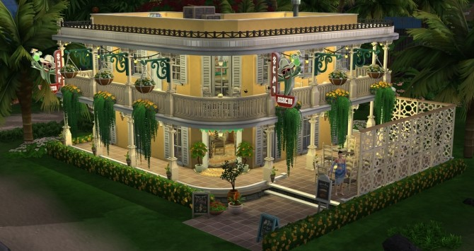 New Orleans cafe at Fab Flubs image 1153 670x355 Sims 4 Updates