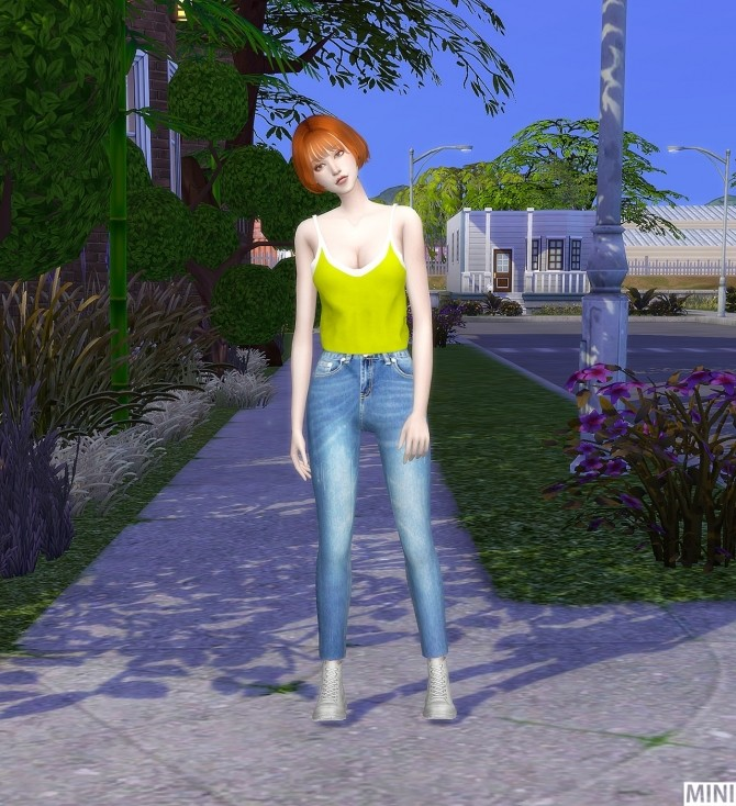 Neon Sleeveless FM top at MINI SIMS image 1164 670x734 Sims 4 Updates