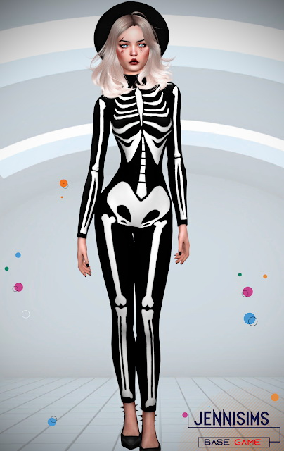 Skeleton Bodysuit 10 designs at Jenni Sims image 1177 Sims 4 Updates
