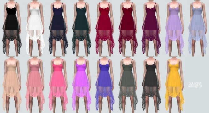 Sims 4 Unique Lace Dress (P) at Marigold