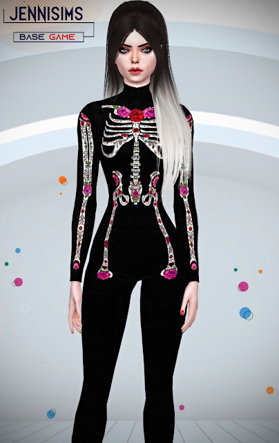 Skeleton Bodysuit 10 designs at Jenni Sims image 1187 Sims 4 Updates