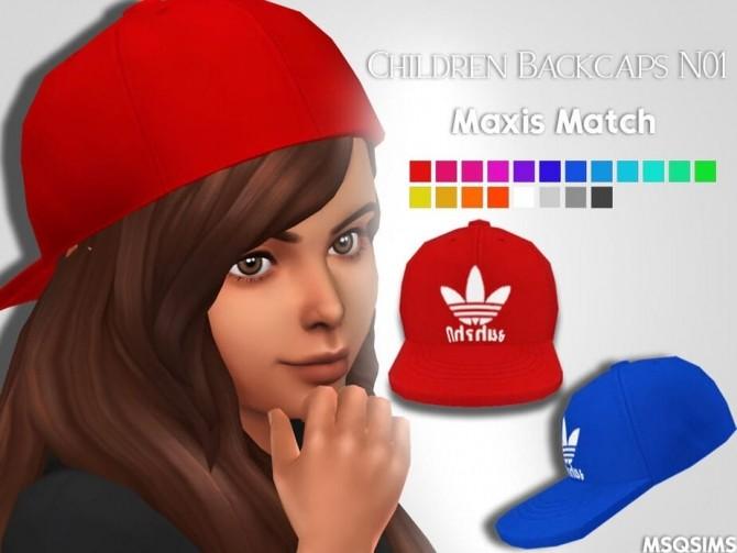 Sims 4 Backcaps N01 at MSQ Sims
