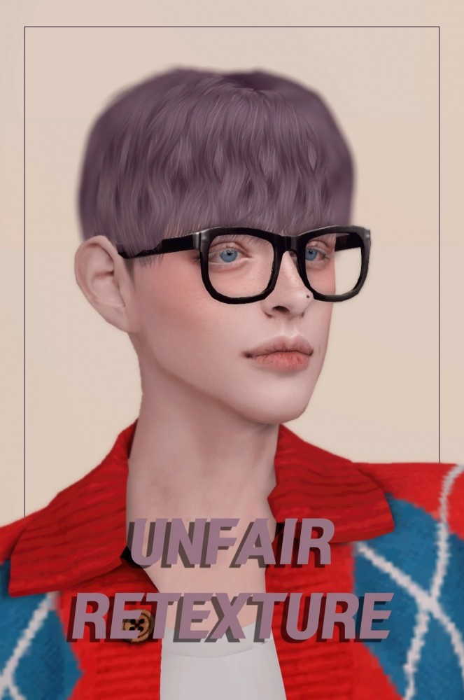 Sims 4 NOAH BLOOMING DAY UNFAIR Hair RETEXTURE at OJE
