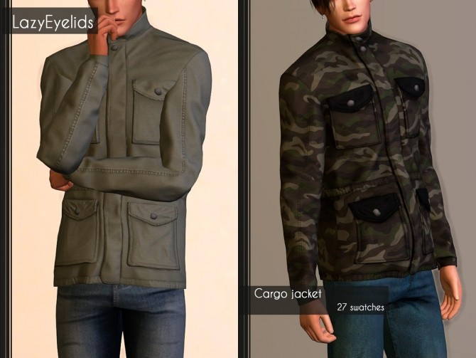Cargo jacket at LazyEyelids image 1207 670x503 Sims 4 Updates