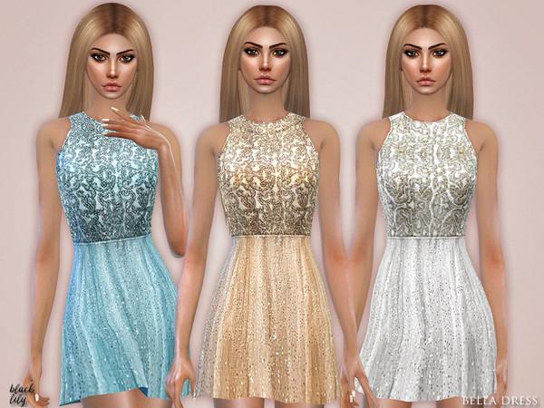 Sims 4 Bella Dress by Black Lily at TSR