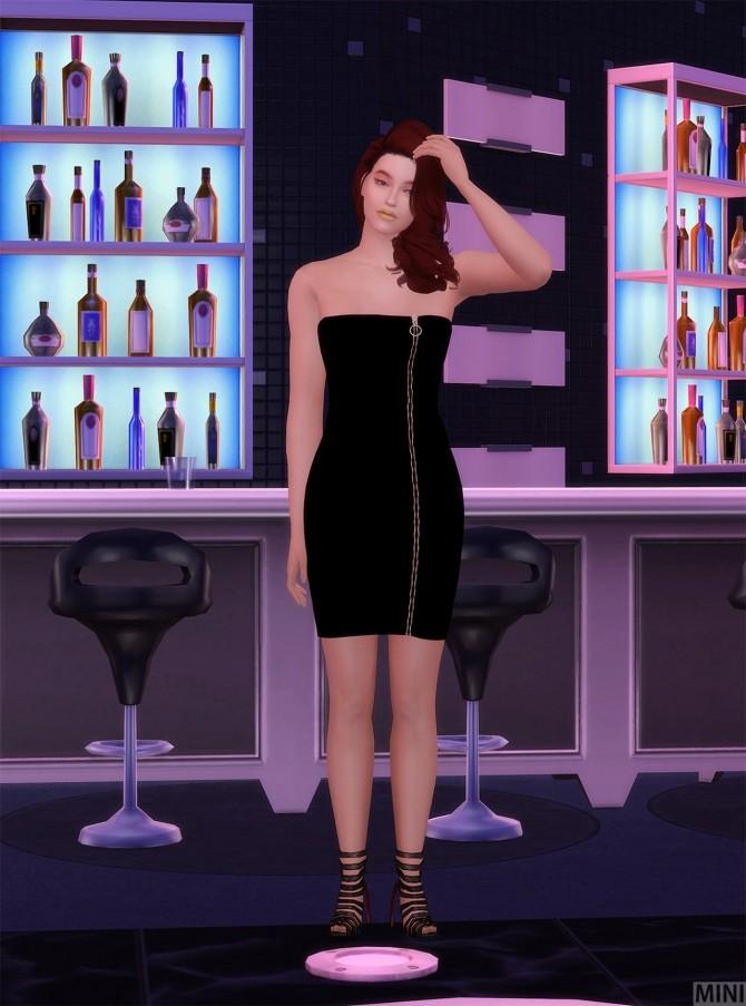 Zipper Dress at MINI SIMS image 1223 670x903 Sims 4 Updates