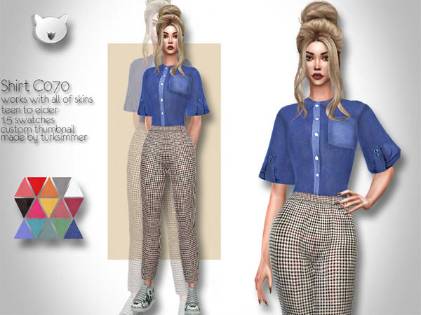 Shirt C070 by turksimmer at TSR image 1226 Sims 4 Updates