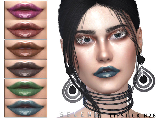Lipstick N28 by Seleng at TSR image 1230 Sims 4 Updates