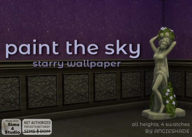 Paint the sky starry wallpaper at AngieShade – Intermittent simblr image 1233 670x479 Sims 4 Updates