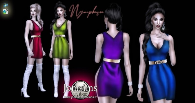 Nympheisea dress at Jomsims Creations image 1234 670x355 Sims 4 Updates