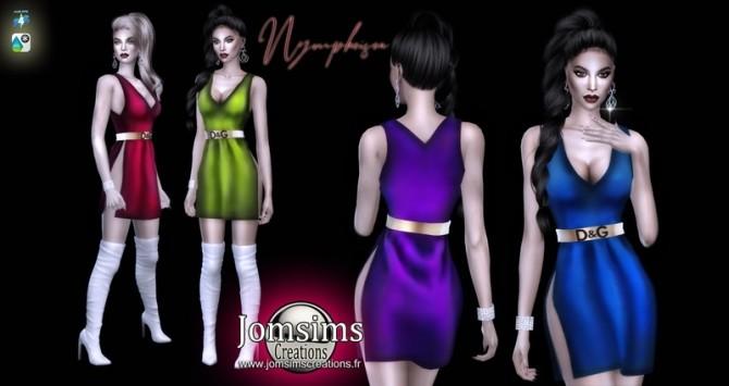 Sims 4 Nympheisea dress at Jomsims Creations