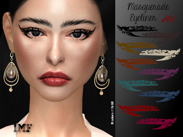 IMF Masquerade Eyeliner N.60 by IzzieMcFire at TSR image 1259 Sims 4 Updates