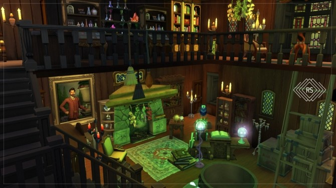 Sims 4 HOCUS POCUS   SANDERSON'S SISTERS HOUSE at RUSTIC SIMS