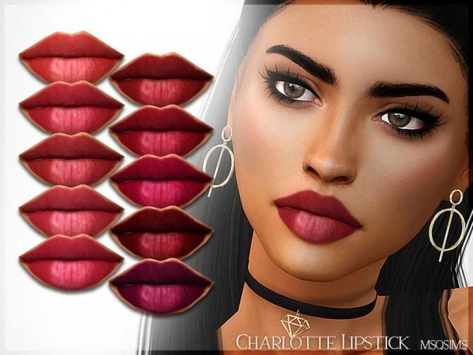 Sims 4 Charlotte Lipstick at MSQ Sims