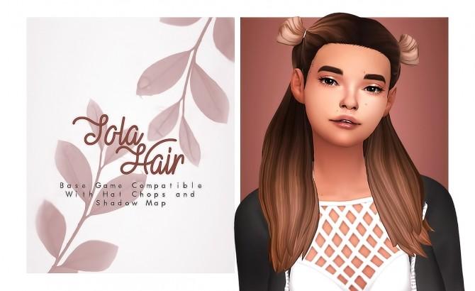 Sims 4 Tola fun MV hair at Isjao – working on uni