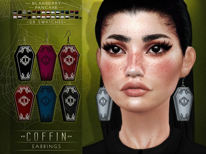 Coffin earrings at Blahberry Pancake image 1305 670x503 Sims 4 Updates