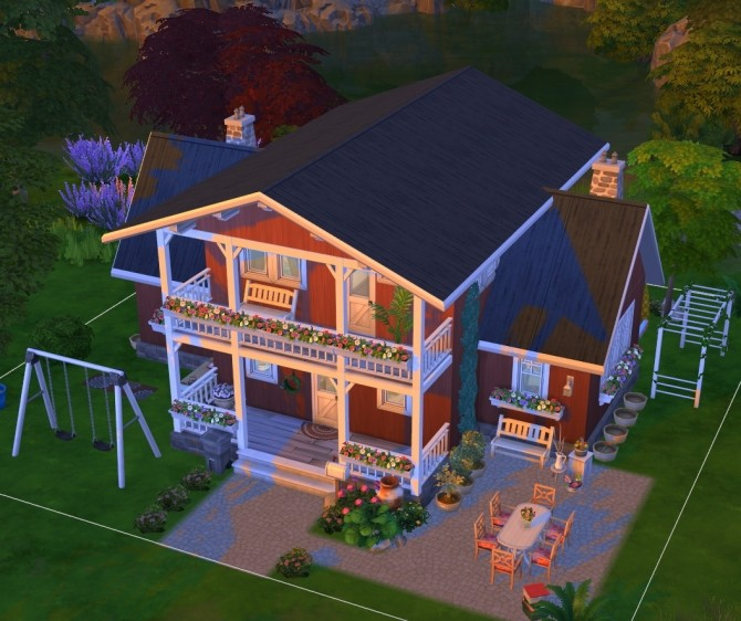 Windenburg cozy family cottage at Fab Flubs image 1309 670x562 Sims 4 Updates