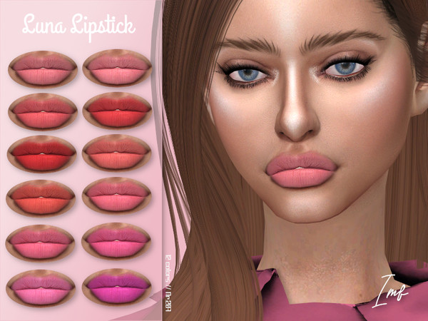 Sims 4 IMF Luna Lipstick N.207 by IzzieMcFire at TSR