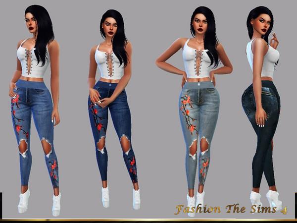 Sims 4 Sofia Jeans by LYLLYAN at TSR