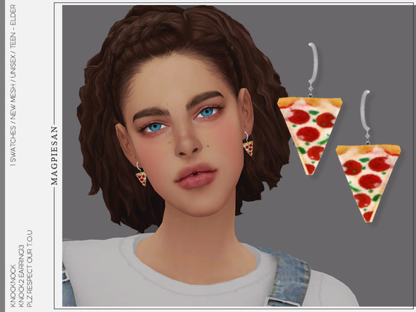 KNOCK2 EARRINGS 13 by magpiesan at TSR image 1318 Sims 4 Updates