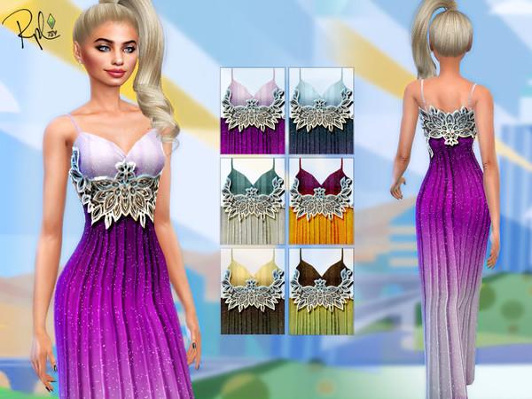Sims 4 Dream Maxi Dress by RobertaPLobo at TSR