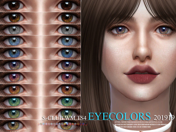 Eyecolors 201919 by S Club WM at TSR image 1327 Sims 4 Updates