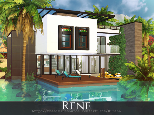 Rene house by Rirann at TSR image 1340 Sims 4 Updates