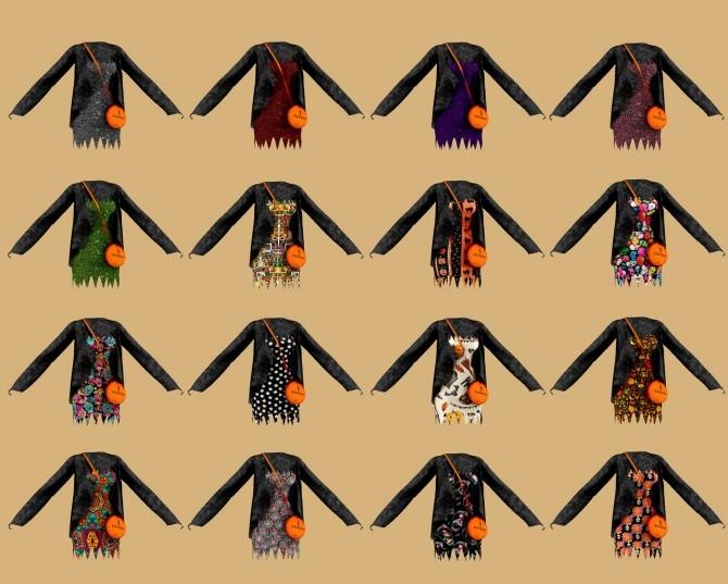 Sims 4 Halloween costume dress at RIMINGs