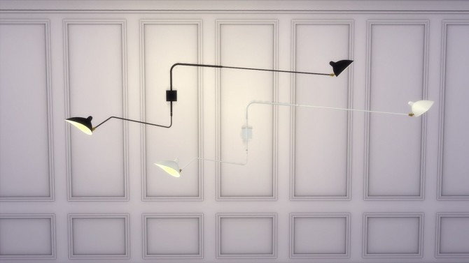 Sims 4 TWO ARMS WALL LAMP (P) at Meinkatz Creations