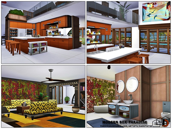 Modern box Paradise house by Danuta720 at TSR image 1428 Sims 4 Updates