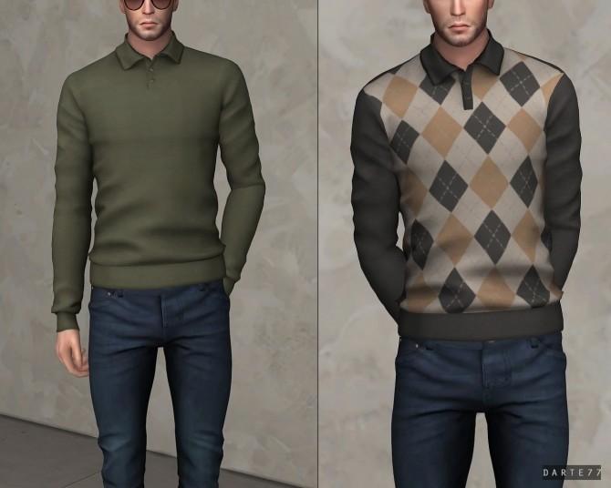 Sims 4 Long Sleeve Polo at Darte77