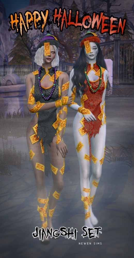 Happy Halloween Jiangshi set at NEWEN image 1434 519x1000 Sims 4 Updates
