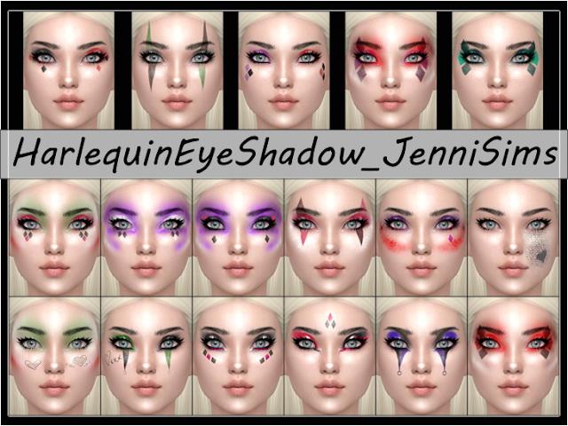 Harlequin Eyeshadow 17 Swatches at Jenni Sims image 144 Sims 4 Updates