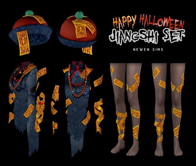 Happy Halloween Jiangshi set at NEWEN image 1444 670x566 Sims 4 Updates