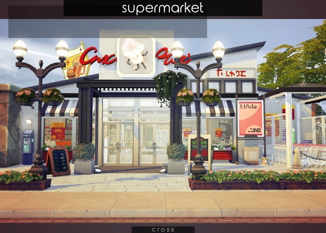 Supermarket at Cross Design image 1447 670x479 Sims 4 Updates