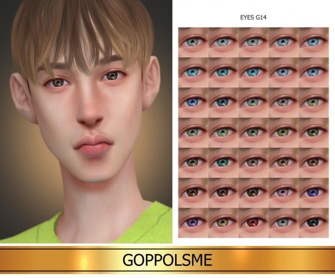 GPME GOLD Eyes G14 (P) at GOPPOLS Me image 146 670x557 Sims 4 Updates