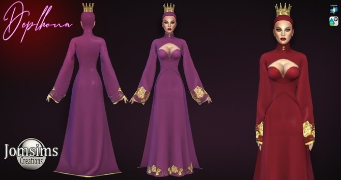 Deplhona dress and crown at Jomsims Creations image 1495 670x355 Sims 4 Updates