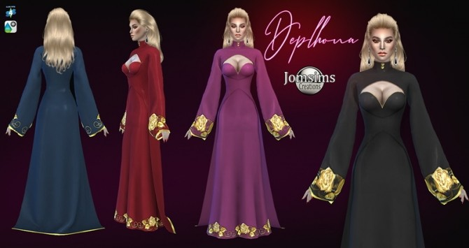 Deplhona dress and crown at Jomsims Creations image 1505 670x355 Sims 4 Updates