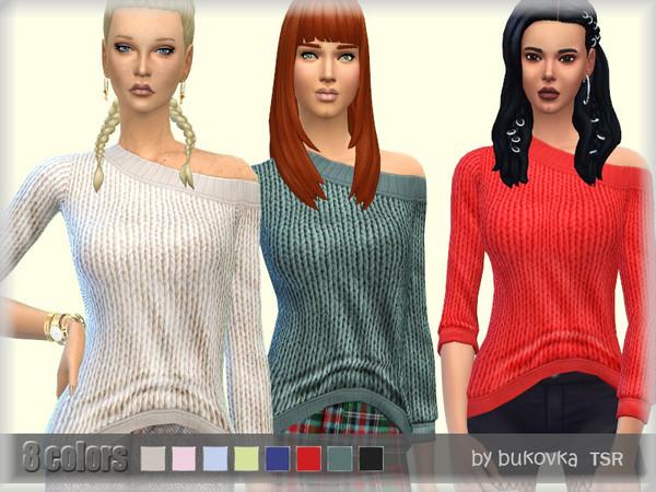 Sims 4 Tucked Sweater by bukovka at TSR