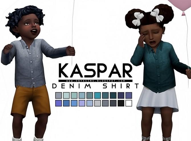 Sims 4 Kaspar Denim Top at Onyx Sims