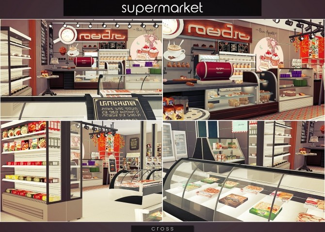 Supermarket at Cross Design image 15114 670x479 Sims 4 Updates