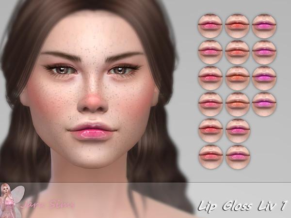 Sims 4 Lip Gloss Liv 1 by Jaru Sims at TSR