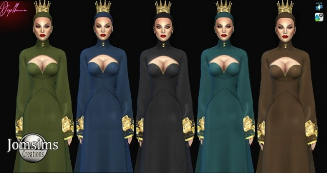 Deplhona dress and crown at Jomsims Creations image 15210 670x355 Sims 4 Updates