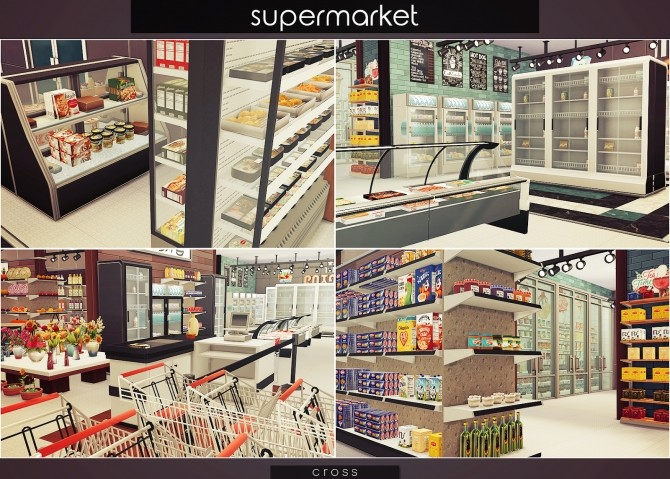 Supermarket at Cross Design image 15212 670x479 Sims 4 Updates