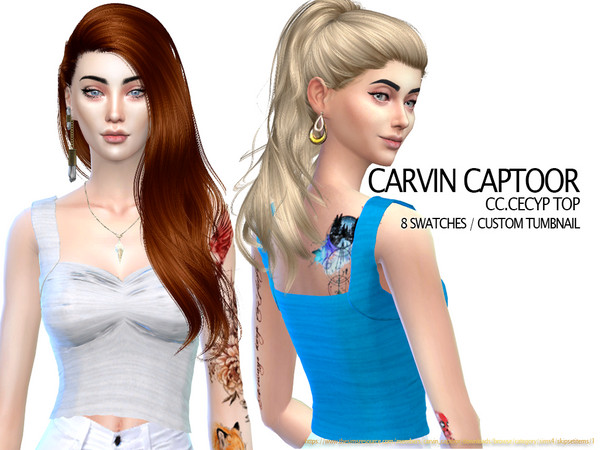 Cecyp top by carvin captoor at TSR image 1528 Sims 4 Updates