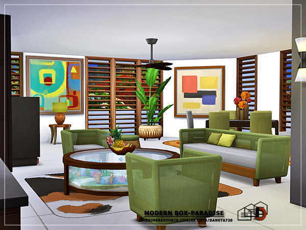 Modern box Paradise house by Danuta720 at TSR image 1529 Sims 4 Updates