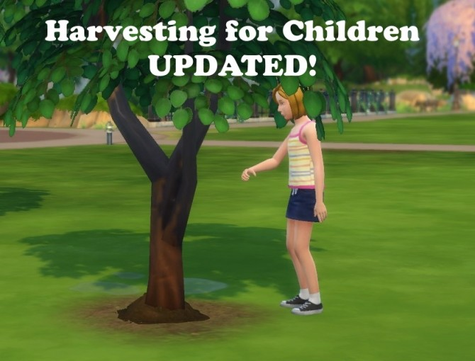 Sims 4 Harvesting for Children (Updated) by jackboog21 at Mod The Sims
