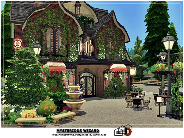 Sims 4 Mysterious Wizard house by Danuta720 at TSR
