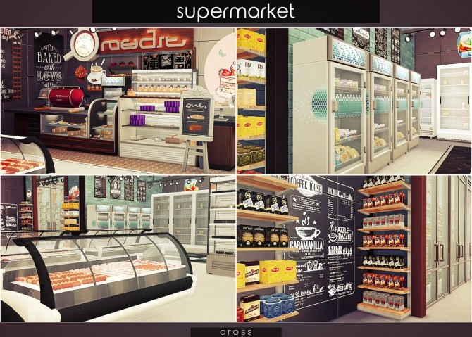 Supermarket at Cross Design image 1538 670x479 Sims 4 Updates