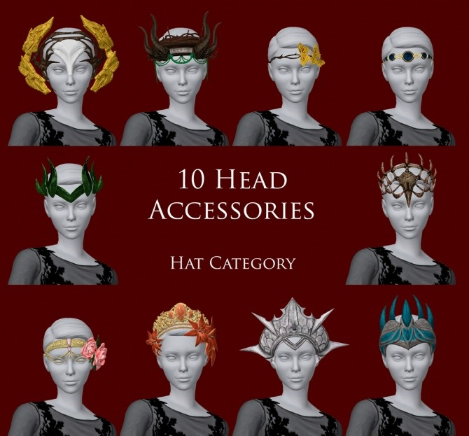 10 Cetrion Head Accessories Pack at Astya96 image 154 670x623 Sims 4 Updates